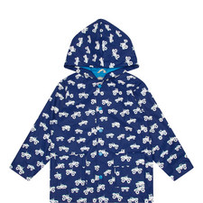 Car Print Raincoat