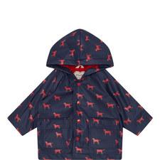 Dog Print Raincoat Baby