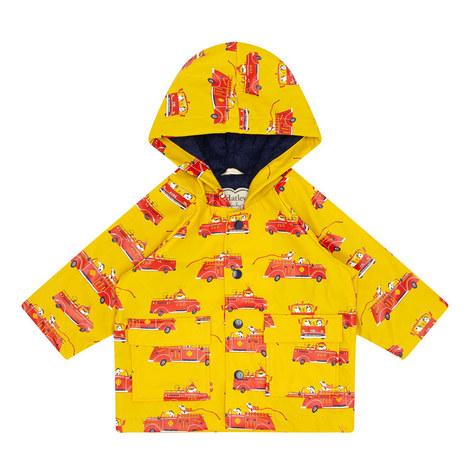 Puppy Firetruck Raincoat, ${color}