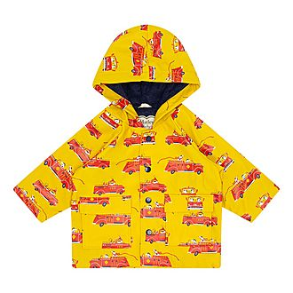 Puppy Firetruck Raincoat