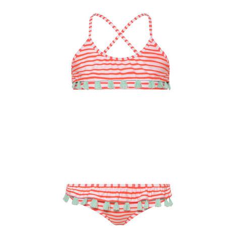 Zebra Fiesta Tassel Bikini, ${color}