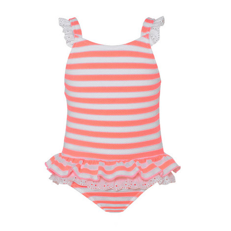 Waffle Stripe Swimsuit Baby, ${color}