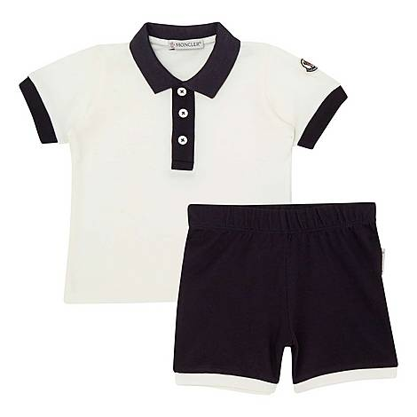Two-Piece Polo Shirt and Shorts Set, ${color}