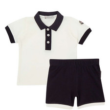 Two-Piece Polo Shirt and Shorts Set