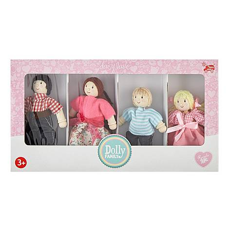 Wooden Dolly Family Toy Set , ${color}