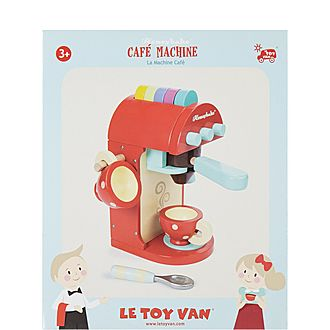 Wooden Café Drink Machine Toy Set