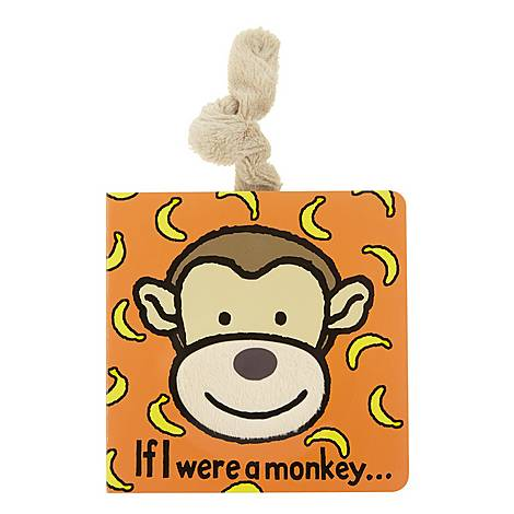 'If I Were A Monkey' Textured Book , ${color}