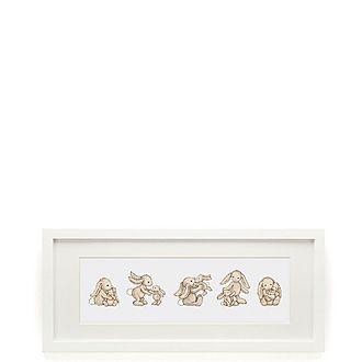 Bashful Bunny Framed Print