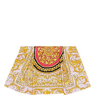 Baroque Print Cotton Skirt
