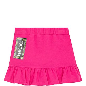Frilled Logo Skirt