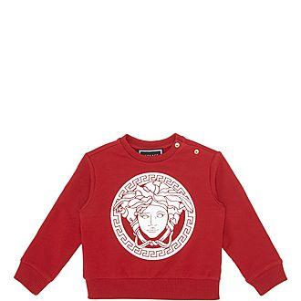 Baby Medusa Print Crew Neck Sweatshirt