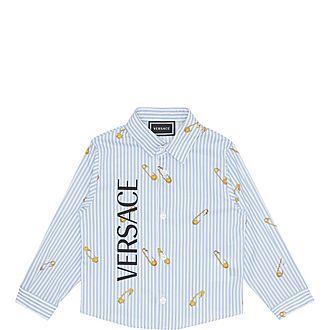 Safety Pin Print Cotton Shirt