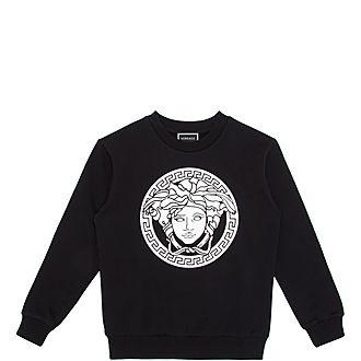 Boys Medusa Crew Neck Sweatshirt