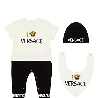 Three-Piece Medusa Bodysuit, Hat and Bib Set