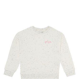 Girl Power Speckled Sweatshirt