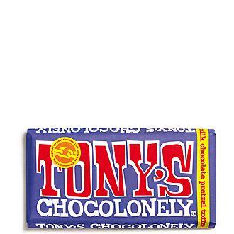 Pretzel Toffee 42% Dark Milk Chocolate Bar