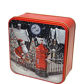 Santa on Bike Biscuit Tin 160g