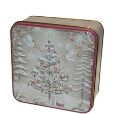 Xmas Tree Biscuit Tin