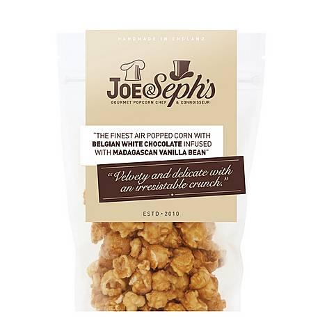 Belgian White Chocolate & Vanilla Bean Gourmet Popcorn 90g, ${color}