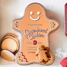 Chocolate Gingerbread Cookie Tin
