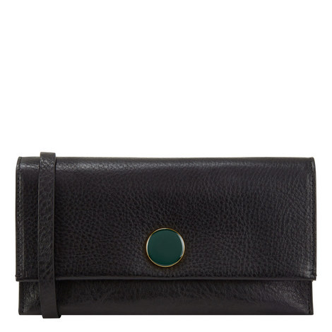 Leather Strap Clutch Wallet, ${color}