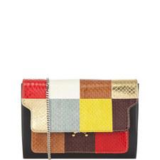 Patchwork Chain Clutch Bag
