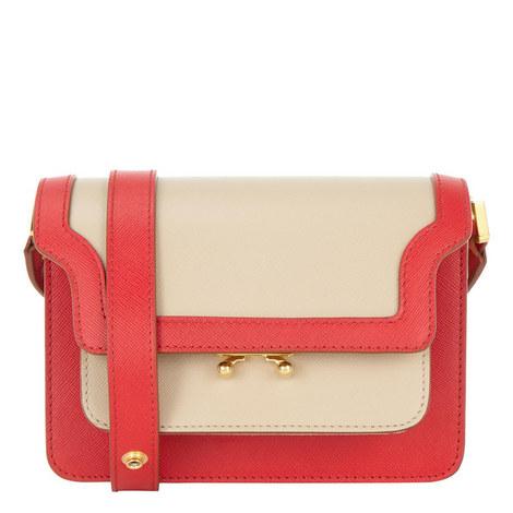 Trunk Leather Shoulder Bag Small, ${color}