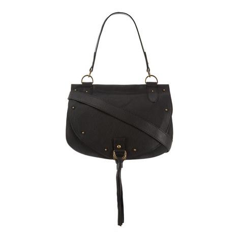 Collins Fringed Leather Saddle Bag, ${color}