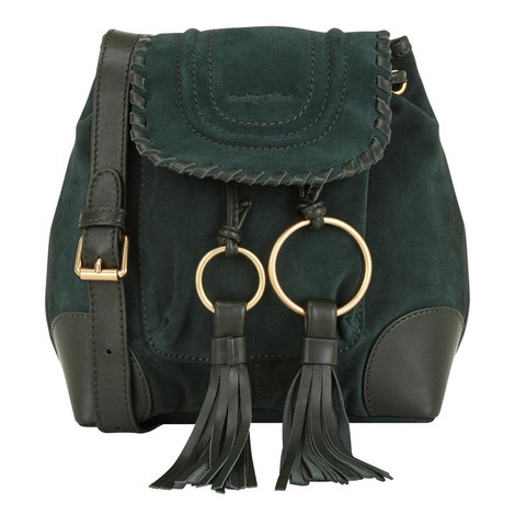 Polly Suede Bucket Bag Small, ${color}