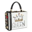 Leather Appliqué Box Bag, ${color}