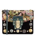 Lucia Button Velvet Shoulder Bag, ${color}