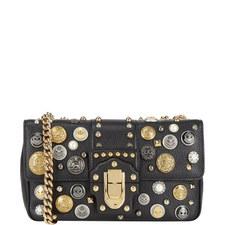 Lucia Button Shoulder Bag Large