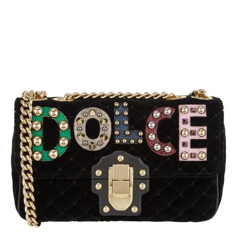 Lucia Velvet Chain Bag Small, ${color}