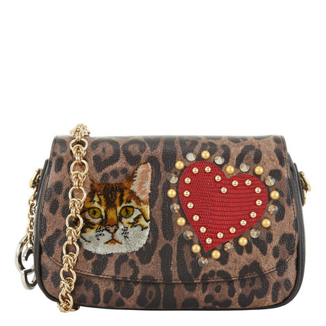 Leopard Patch Shoulder Bag , ${color}
