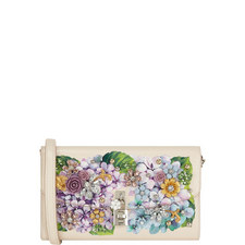 Ortensia Floral Crystal Pochette