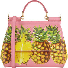 Sicily Pineapple Print Bag Medium