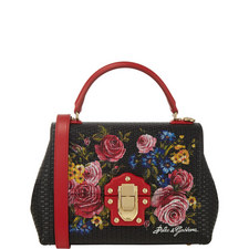 Lucia Floral Top Handle Bag
