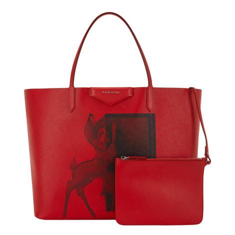 Bambi Print Shopping Bag, ${color}