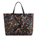 Pansy Print Shopping Bag, ${color}