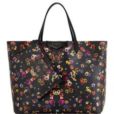 Pansy Print Shopping Bag