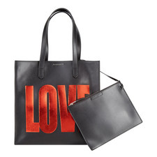 Print Leather Shopper