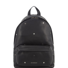 Cross Appliqué Leather Backpack