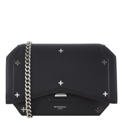 Studded Cross Bow Cut Bag, ${color}