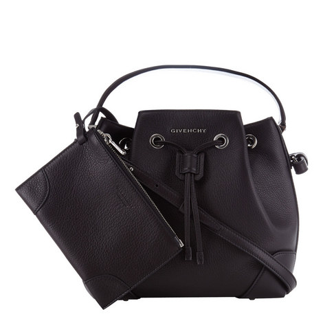 Leather Bucket Bag Small, ${color}