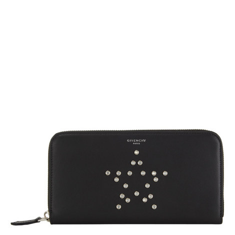 Star Stud Zip-Around Wallet, ${color}