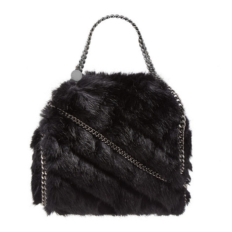 Falabella Mini Faux Fur Bag, ${color}