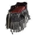 Drawstring Fringe Bucket Bag Small, ${color}