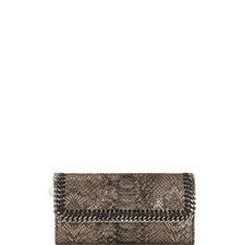 Falabella Python-Embossed Wallet