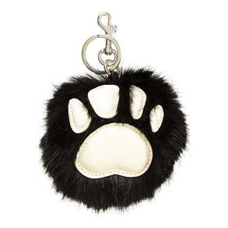 Faux Fur Paw Keyring, ${color}