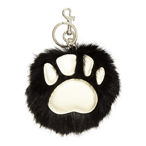 Faux Fur Paw Keyring, ${color}